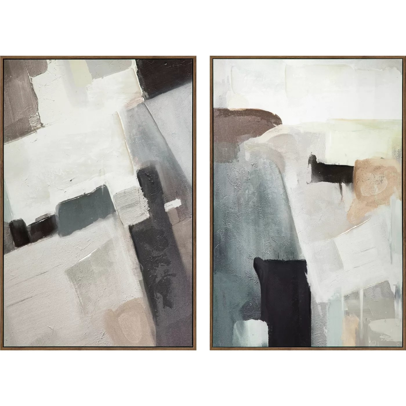 The abstract canvases