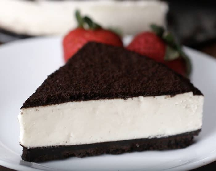 The cookies and cream cheesecake