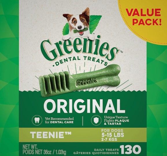 The pack of teenie greenies