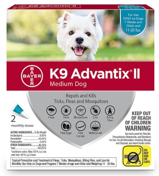 The pack of dog flea and tick treatment for medium dogs