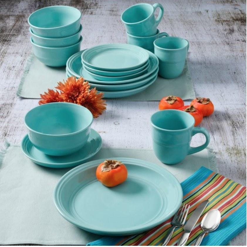 A 16-piece dinnerware set.
