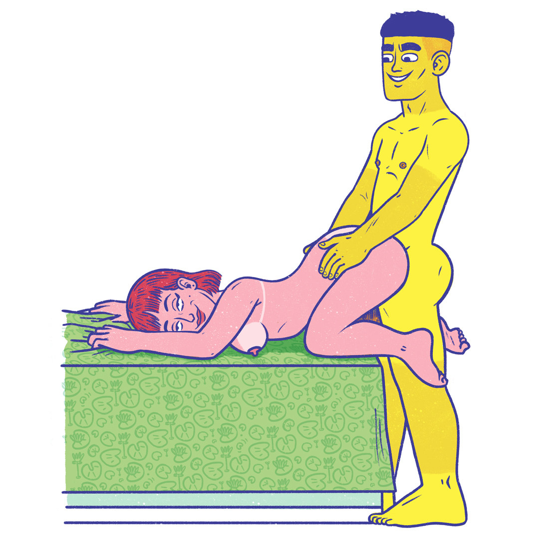 """An illustrated image of the """"leapfrog"""" position"""
