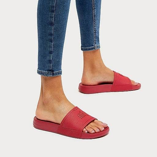 The slide in red on a model
