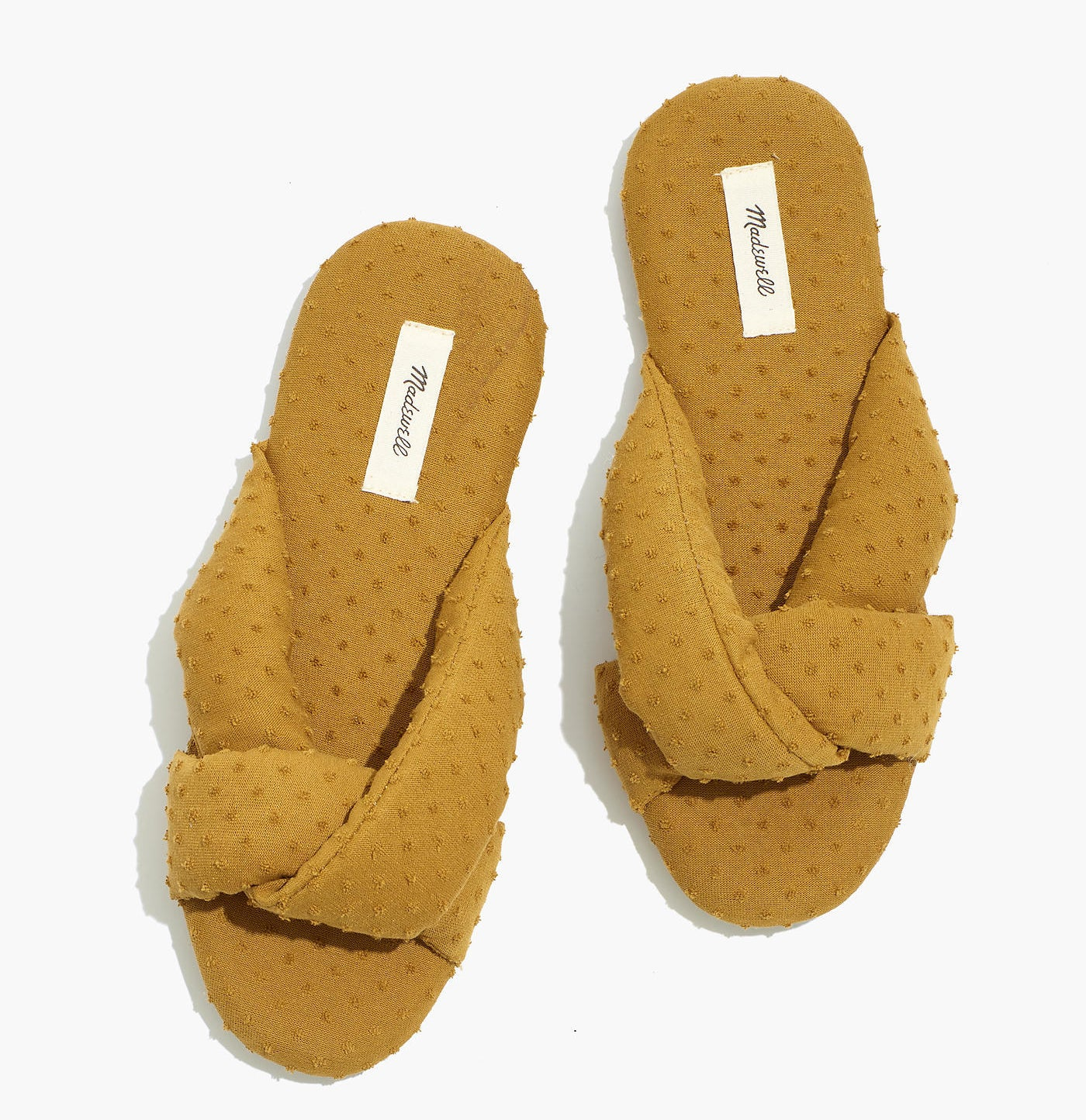 The gold shade clipdot slippers