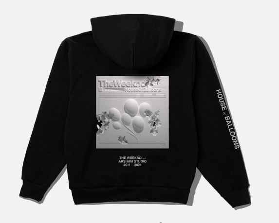 a sweatshirt that says house of balloons