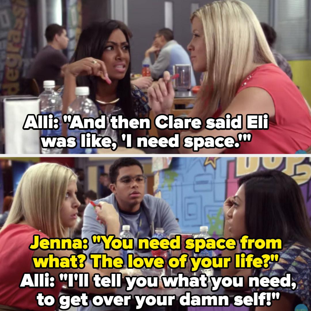 """Alli and Jenna mocking Eli's """"I need space"""""""