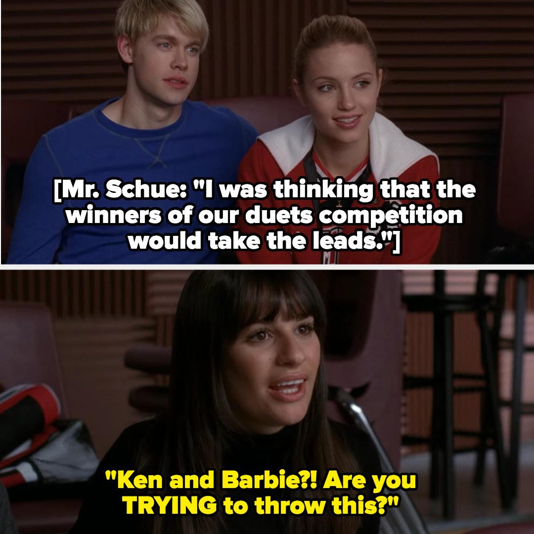 "Rachel calls Sam and Quinn ""Ken and Barbie"""
