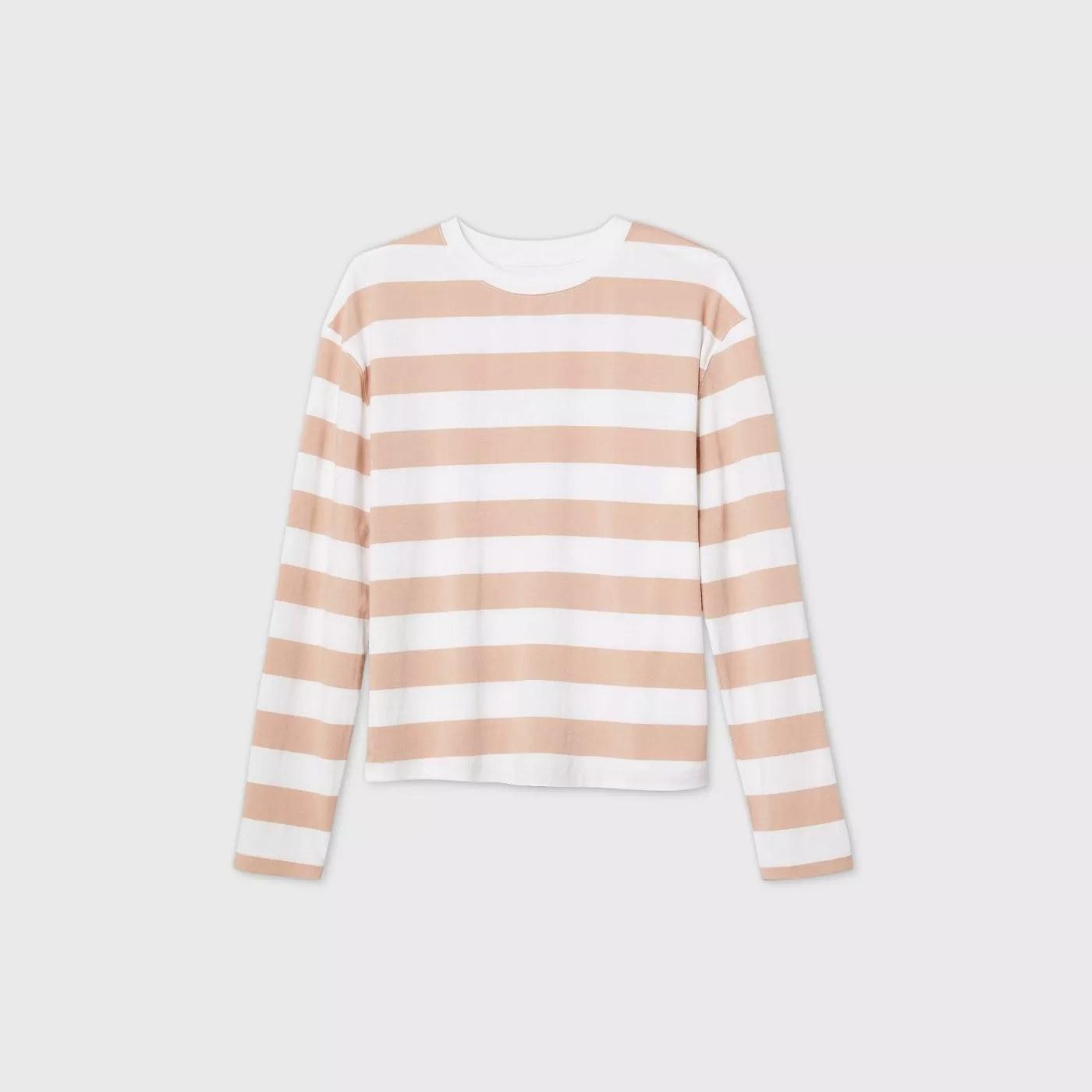Tan and white stripes