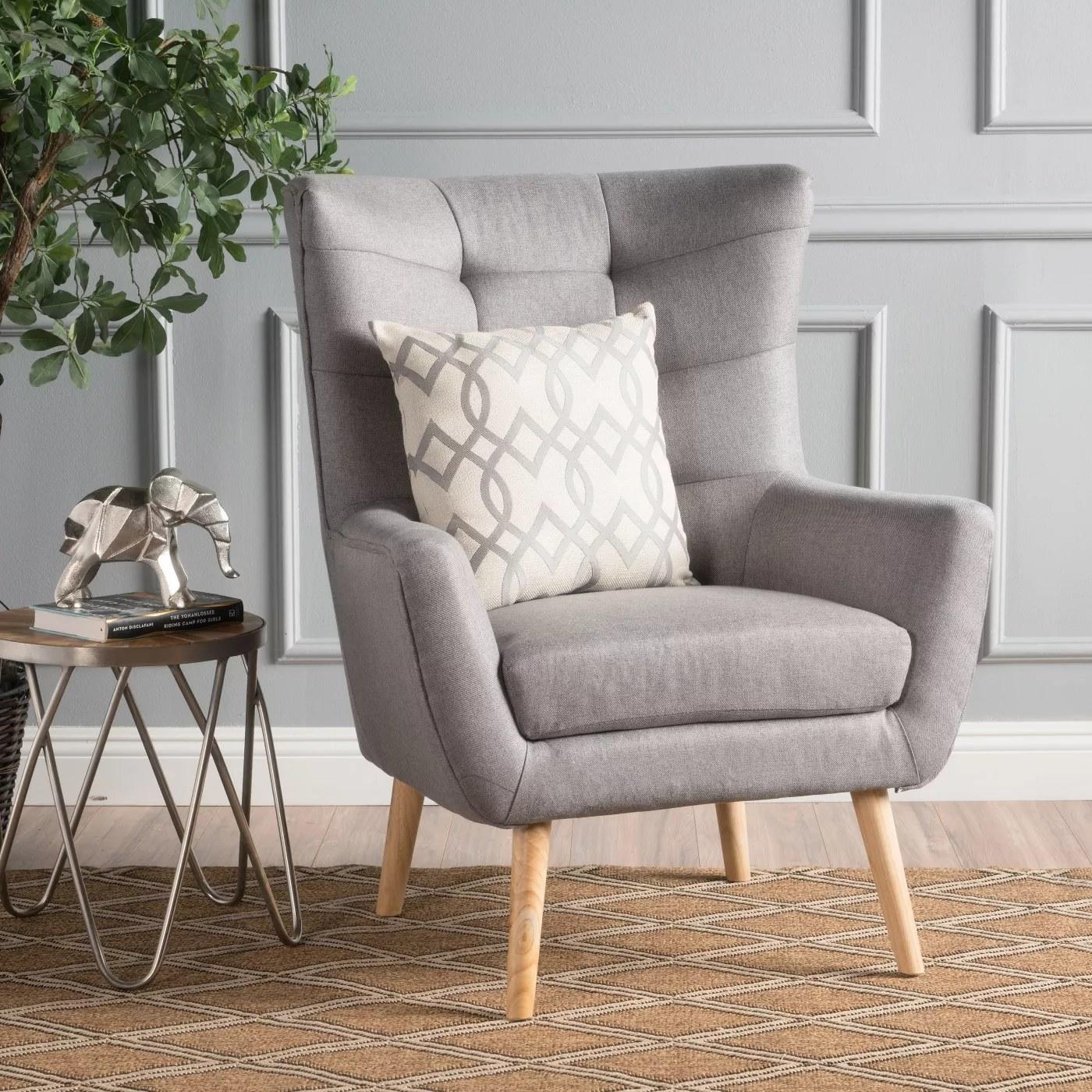 The gray armchair