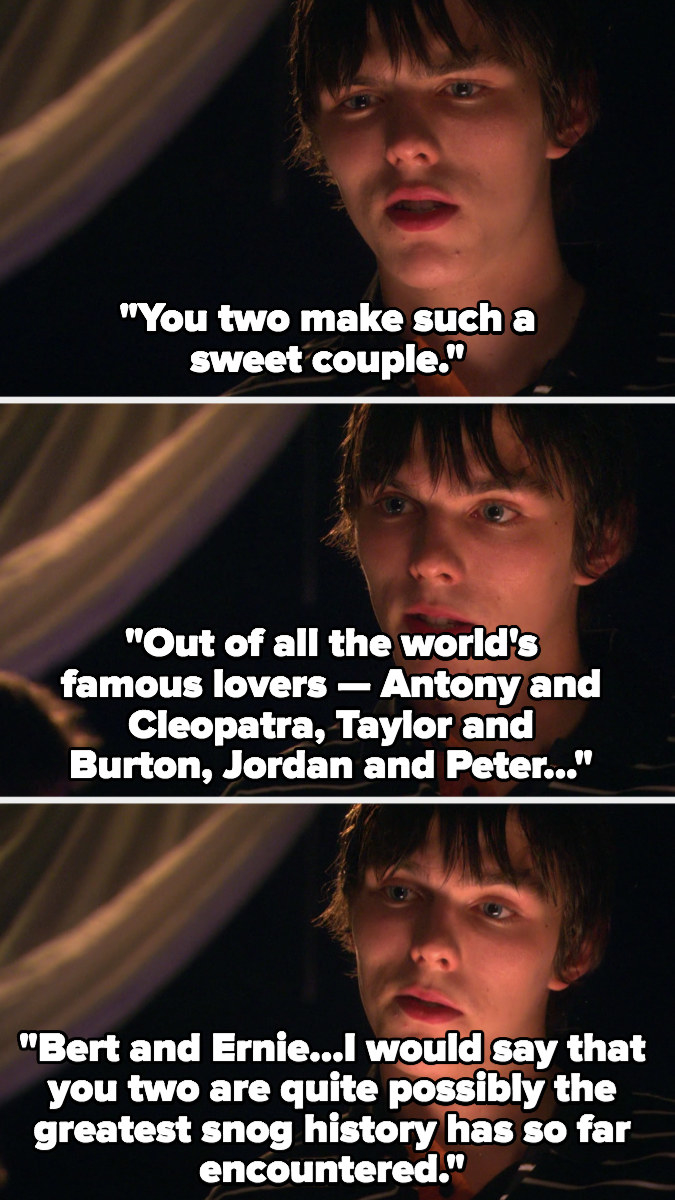 Tony sarcastically compares Sid and Michelle to the greatest couples in the world including Bert and Ernie