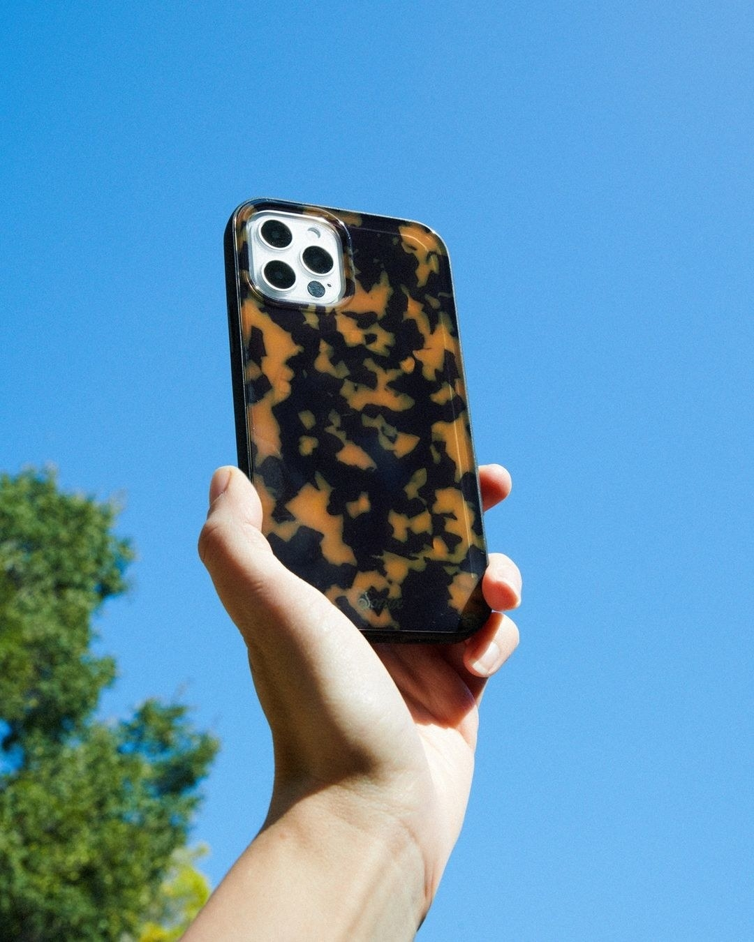 a tortoise shell phone case