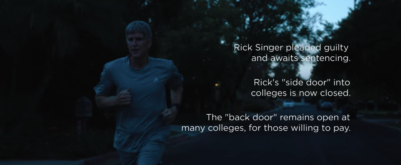 Rick Singer running at night