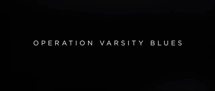 Title card for Operation Varsity Blues