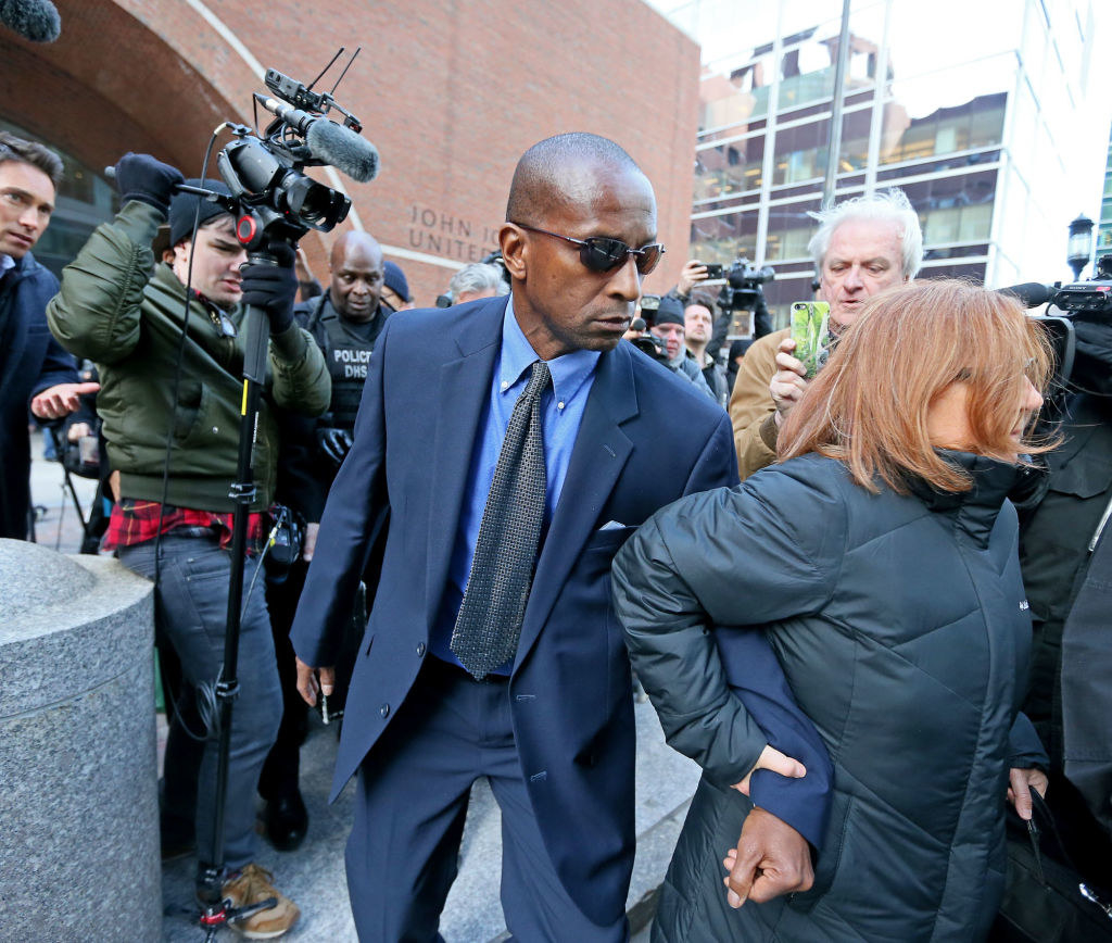 Former Yale women's head soccer coach Rudy Meredith leaves Moakley Courthouse