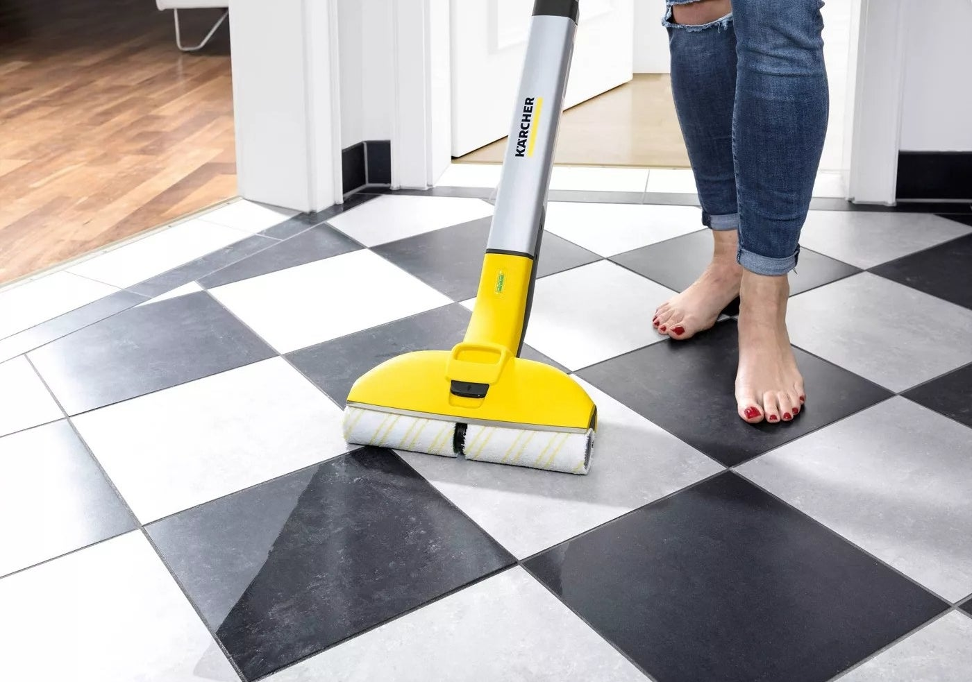 The cordless floor cleaner