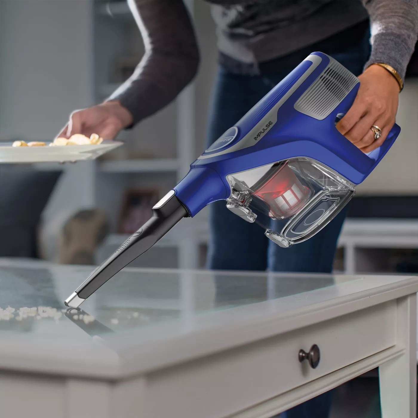 The Hoover Impulse vacuum with a crevice attachment