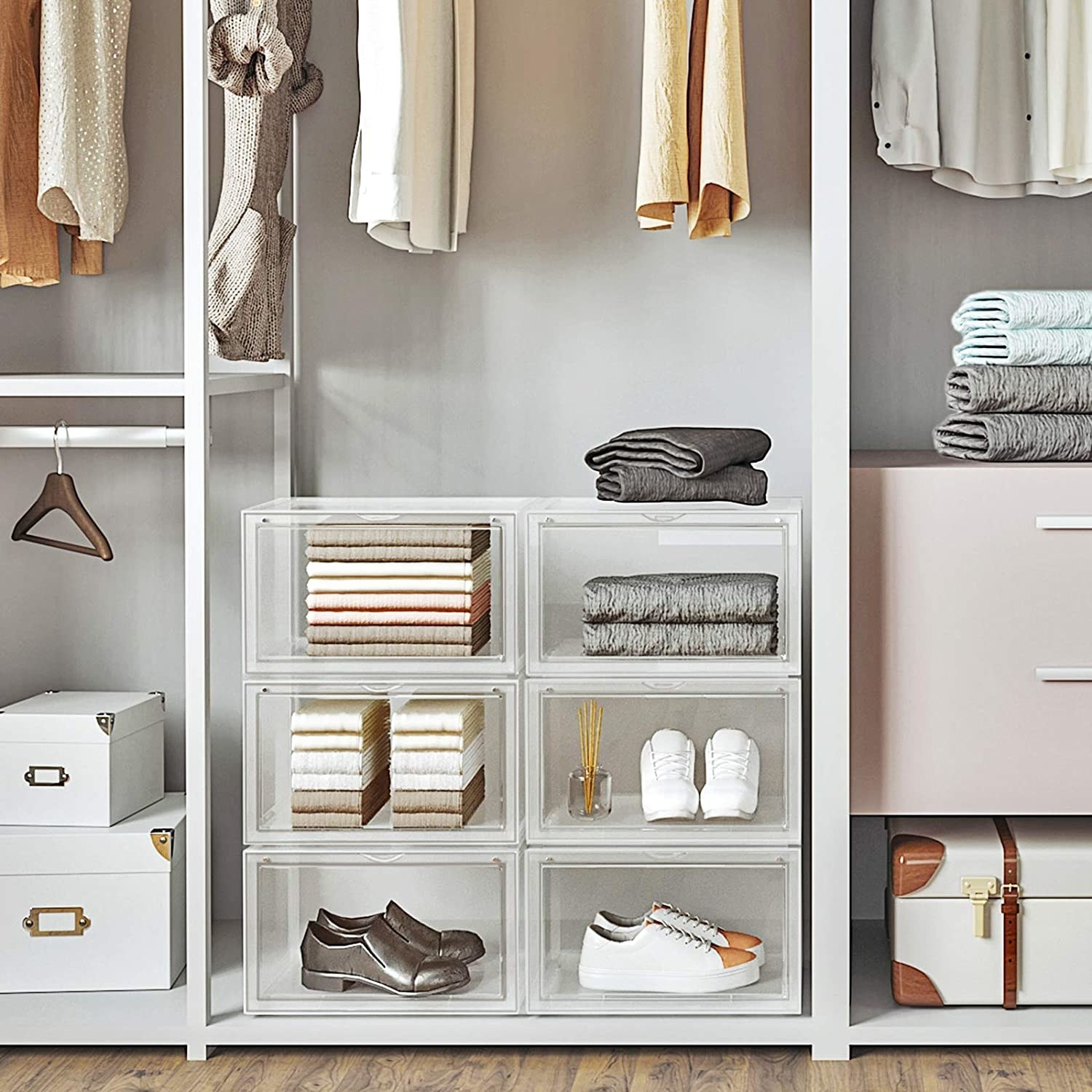 a closet with the