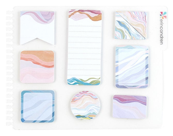 a pack of the layers snap-in stylized sticky notes