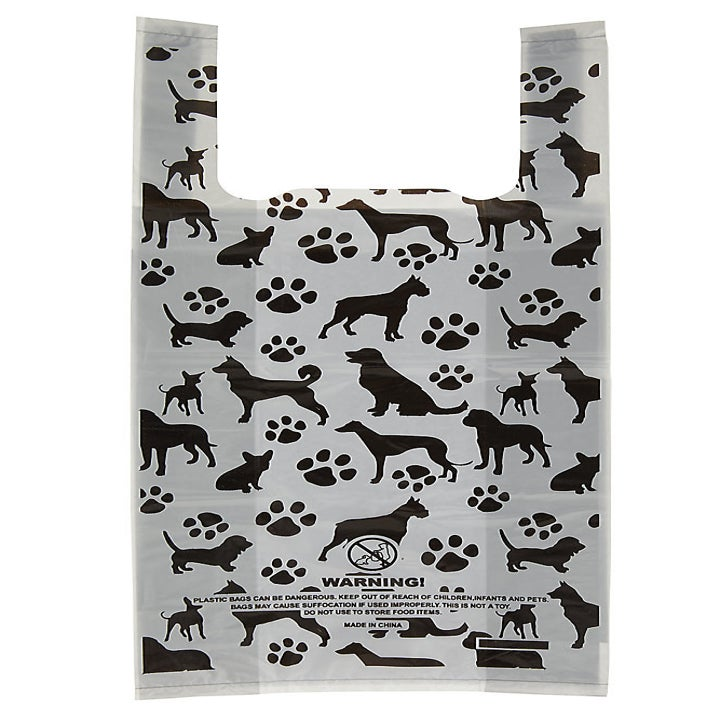 the dog and paw print bags with handles