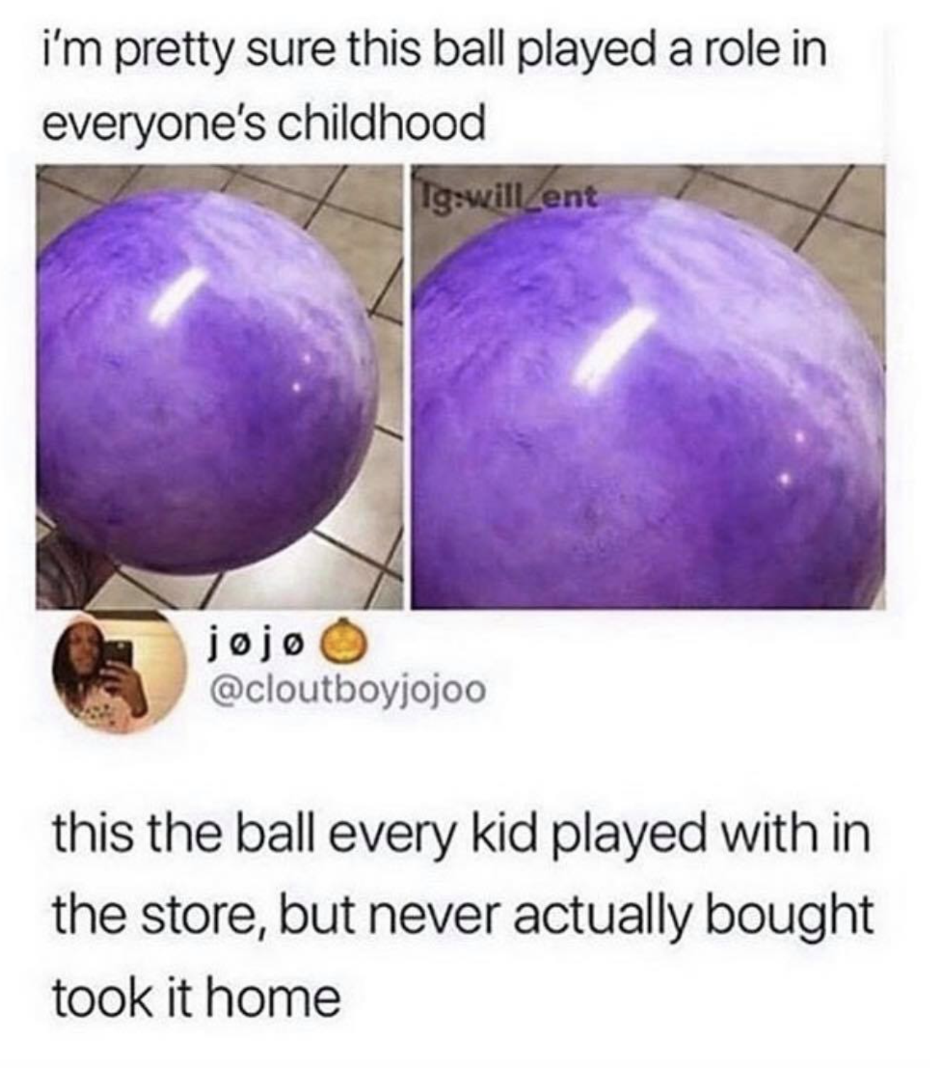 purple inflatable ball