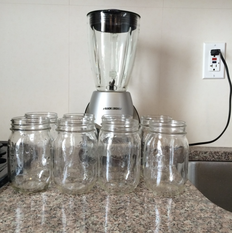 A blender on the counter