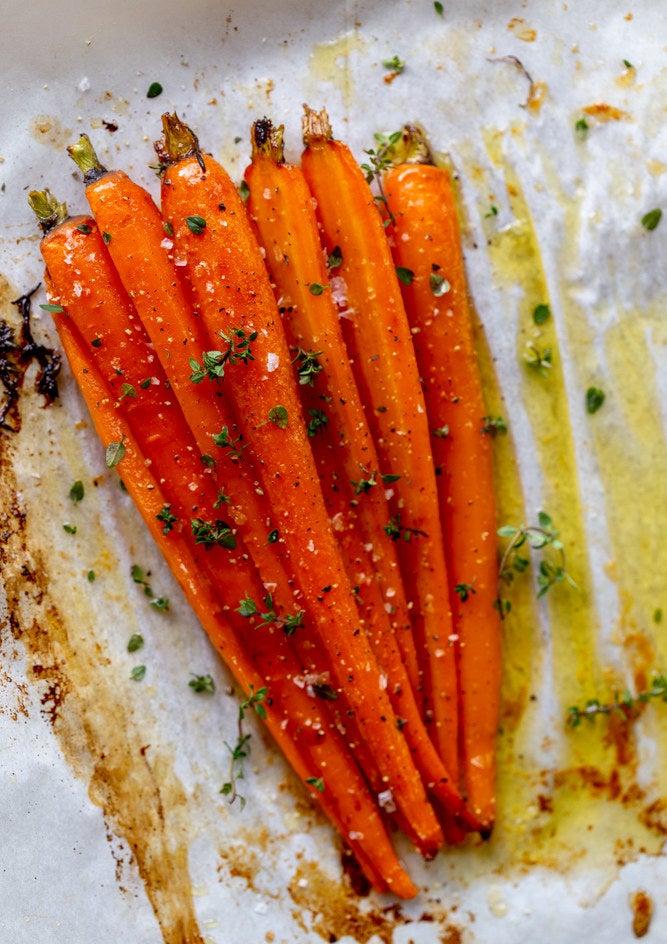 Honey butter roasted carrots.