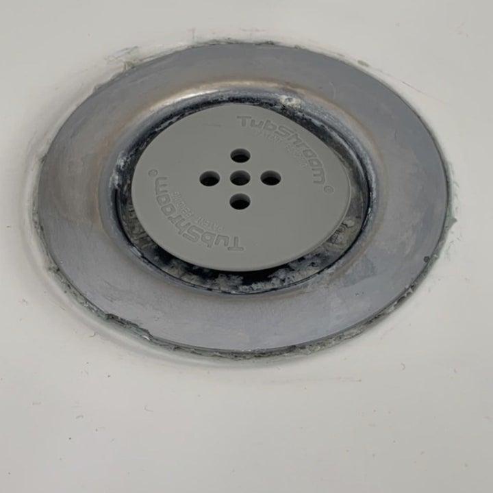 A tub drain protector in the drain