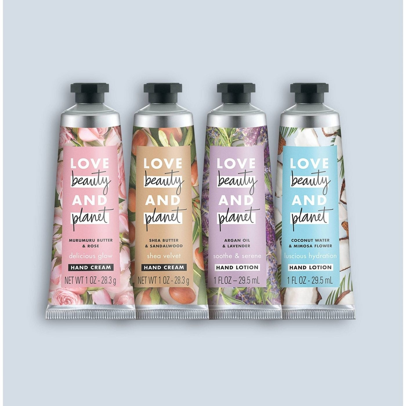 Four tubes of hand cream