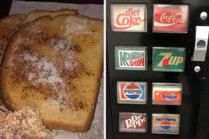 toast and a vending machine