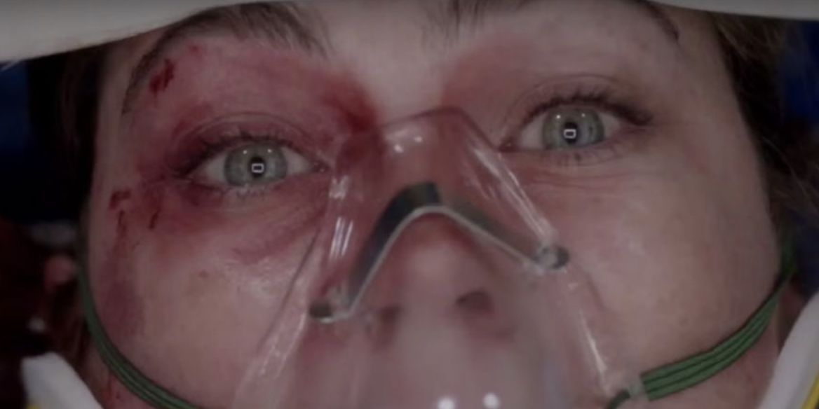 """A patient looking shocked in """"Grey's Anatomy"""""""