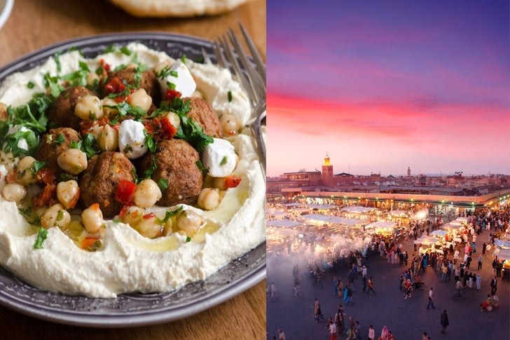 Falafel and hummus and Marrakesh