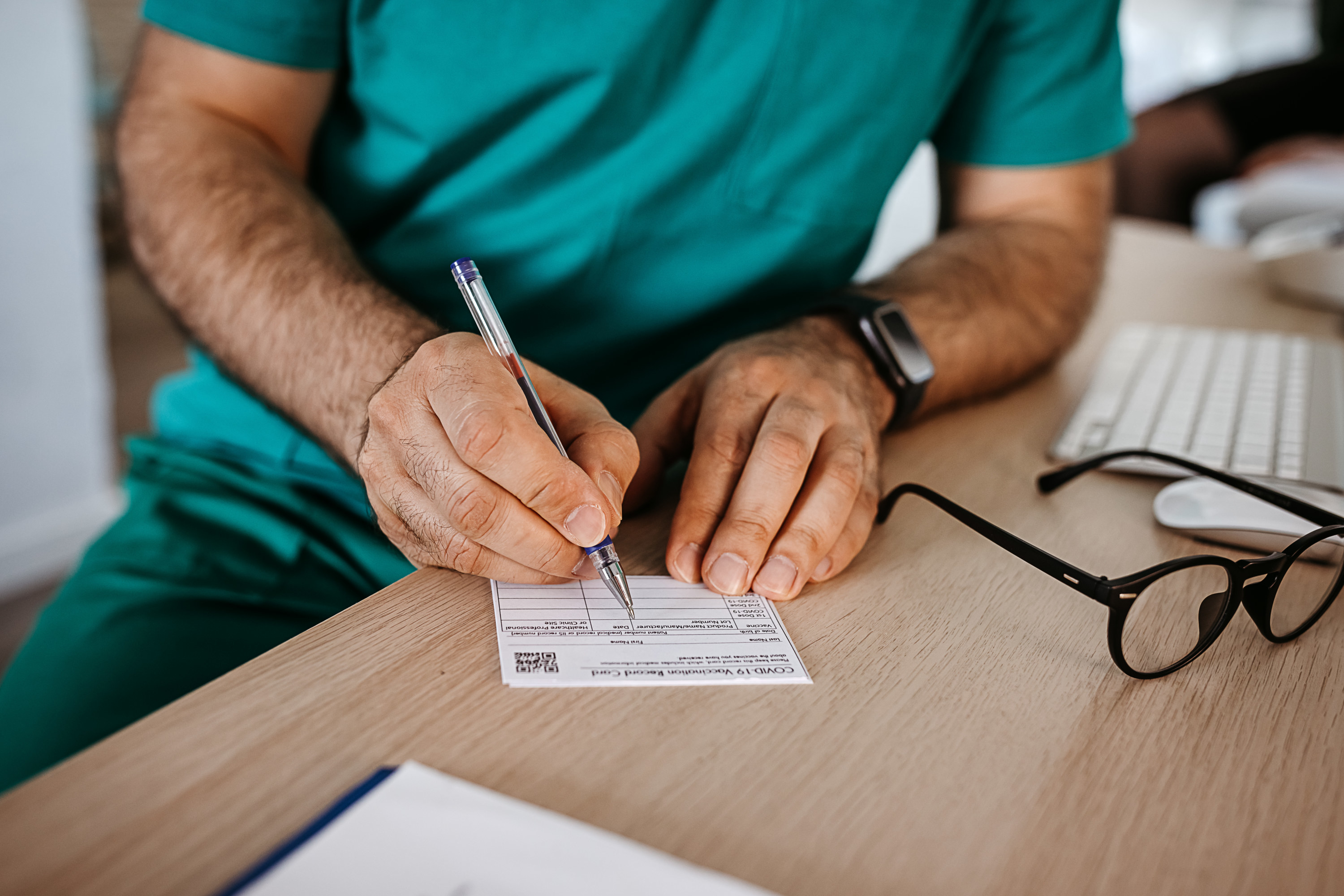 Filling out vaccine documentation
