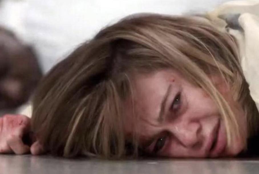 "A patient on the floor in ""Grey's Anatomy"""