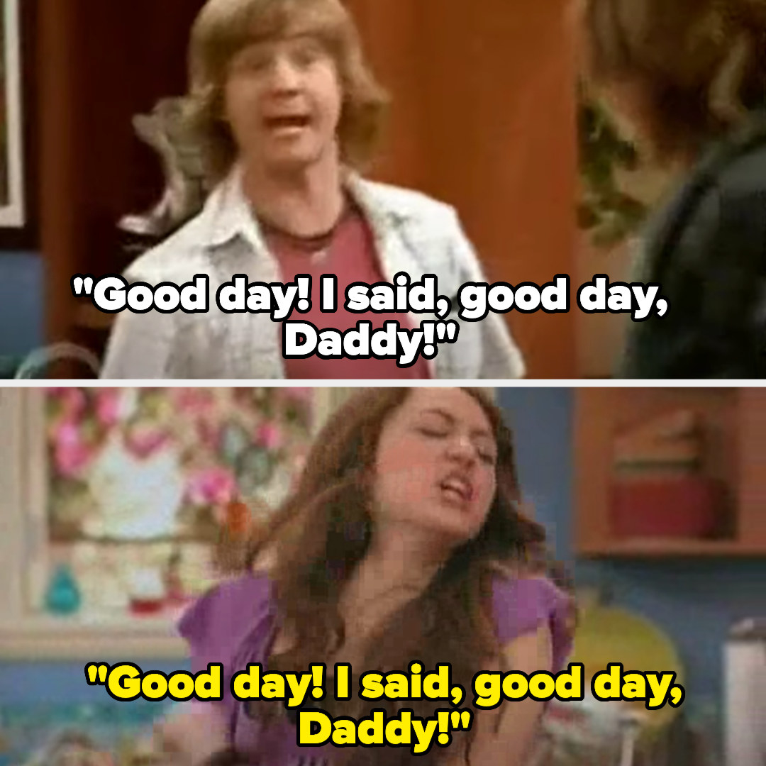 """Jackson says """"Good day! I said, good day, Daddy!"""""""