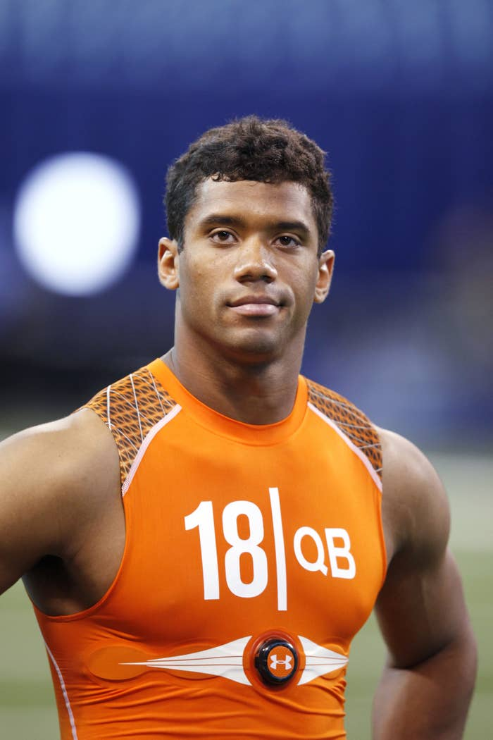 Young Russell Wilson at NFL Combine