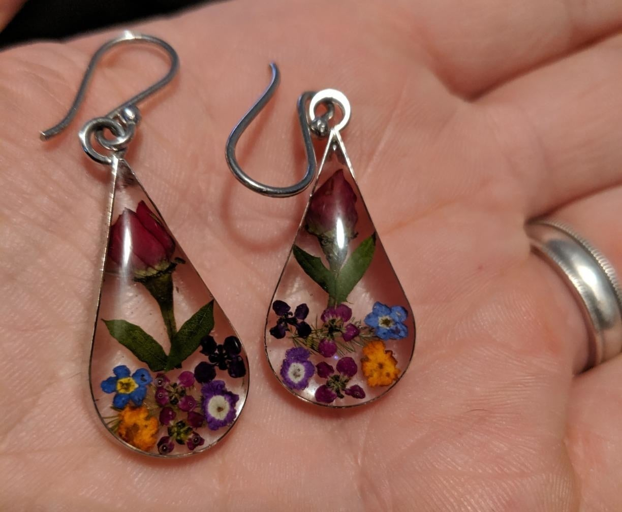 Review photo of the multi-colored earrings