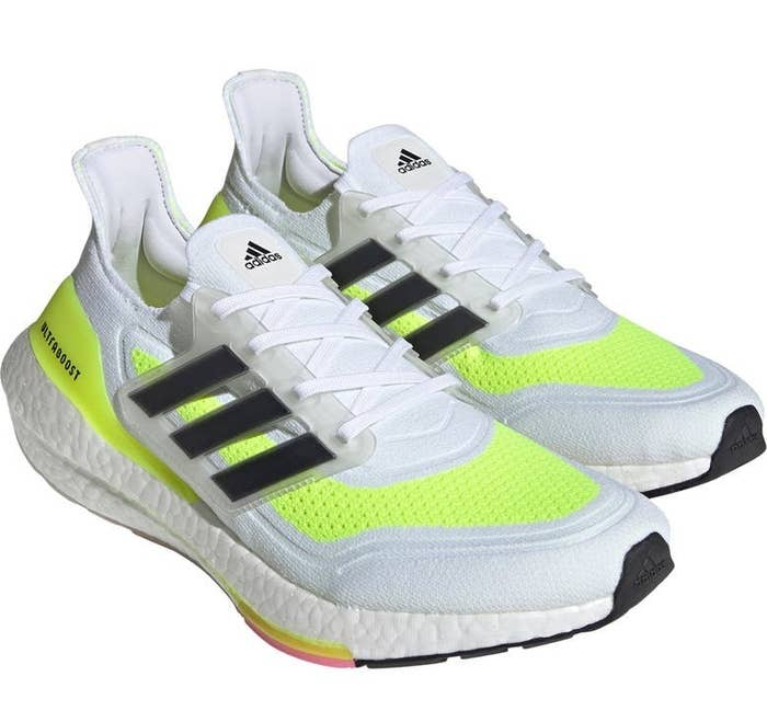 The shoes in White/Black/Yellow