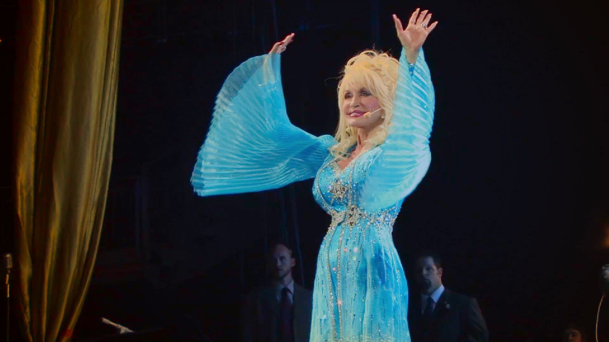 Dolly performing on stage