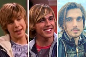 Cody Linley in 2006, 2011, and 2021