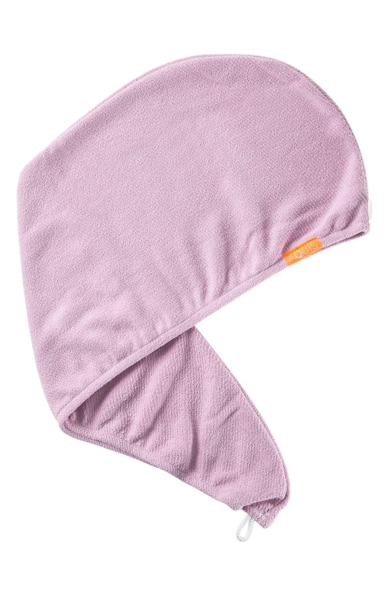 The hair towel in Lavender Rose