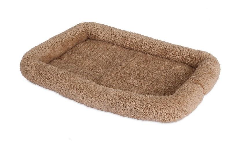 brown pet crate mat