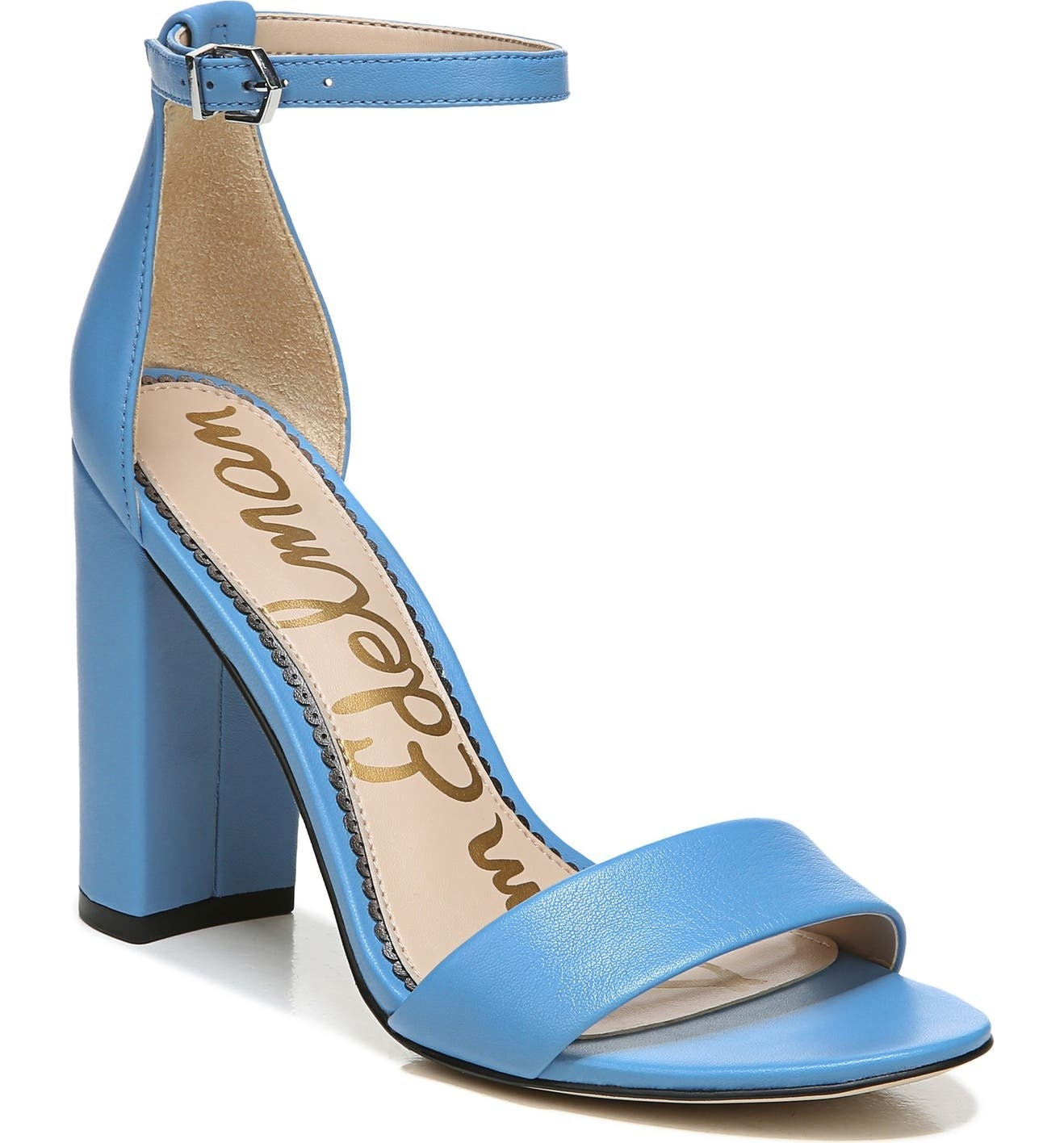 The sandals in Blue Leather