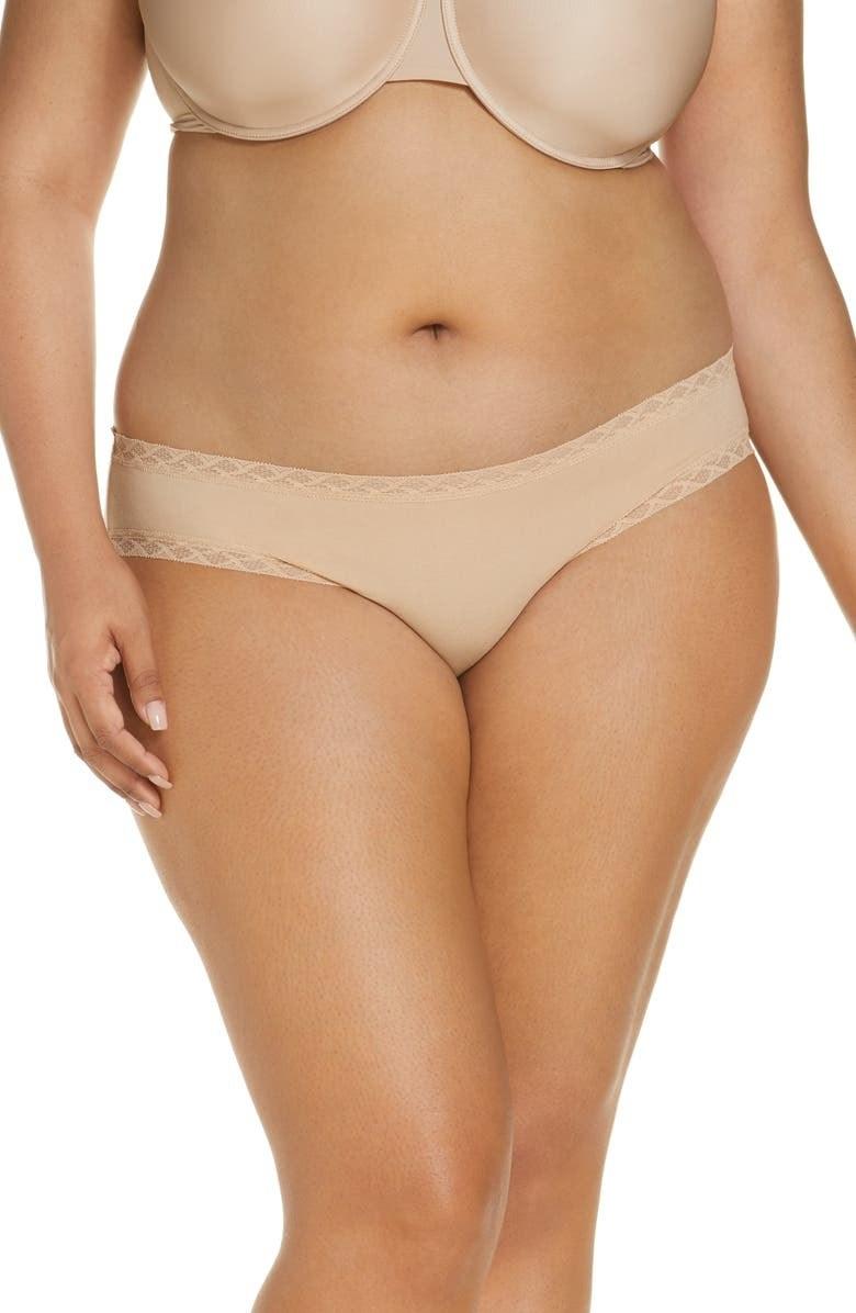 A model wears the underwear in Cafe