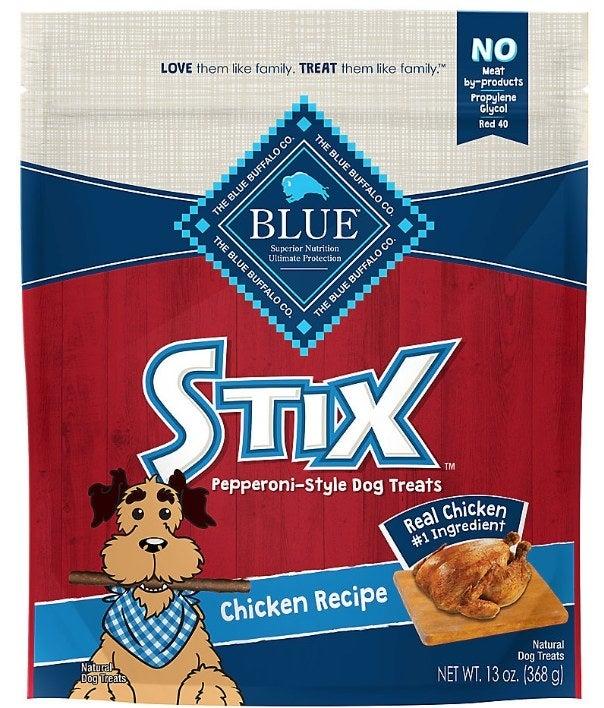 A bag of chicken flavor dog treats