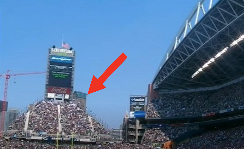 "Bench section titled ""Hawks Nest"" inside CenturyLink Field."