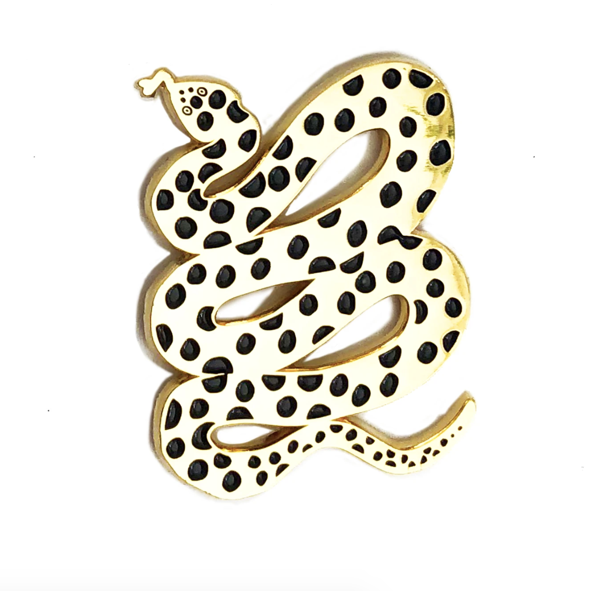 A spotted snake pin