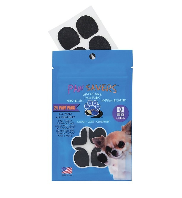A  pack of 24 disposable paw pads