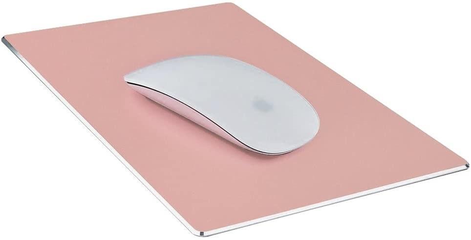 rose gold metal mouse pad