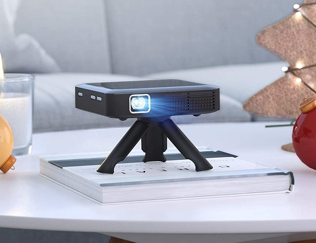 the projector on a table