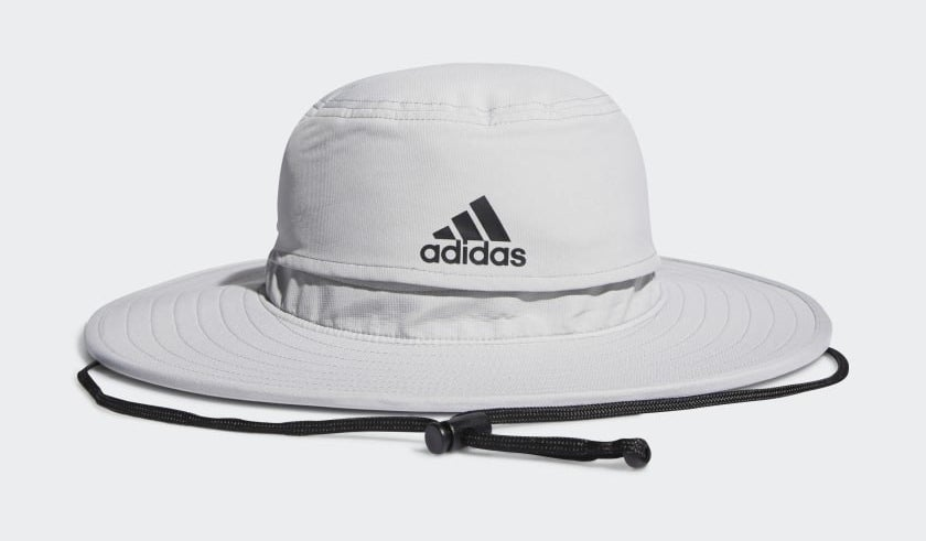 an adidas bucket hat with an adjustable tie
